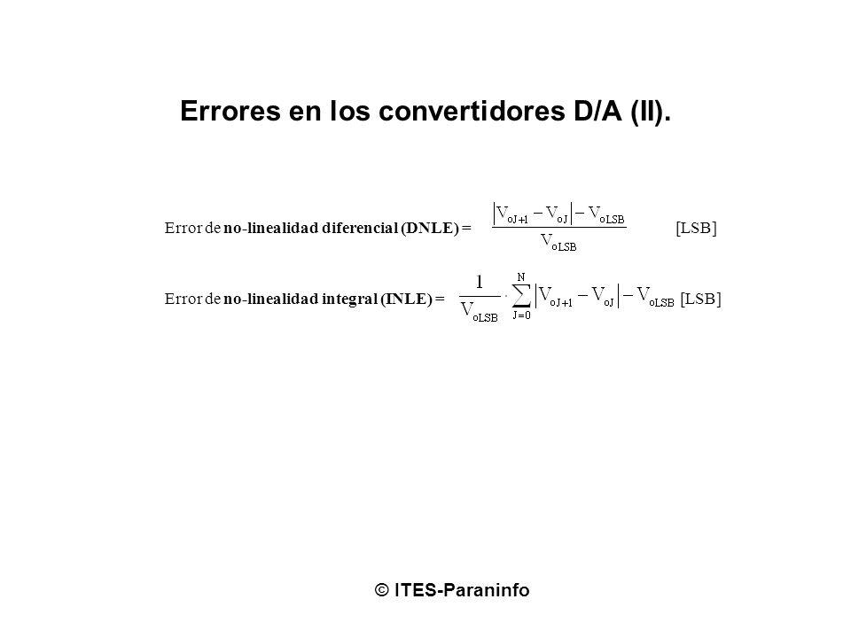 Errores en los convertidores D/A (II).