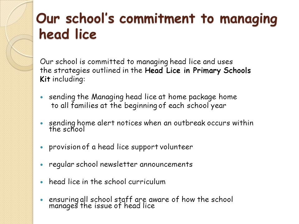 how to avoid lice in school
