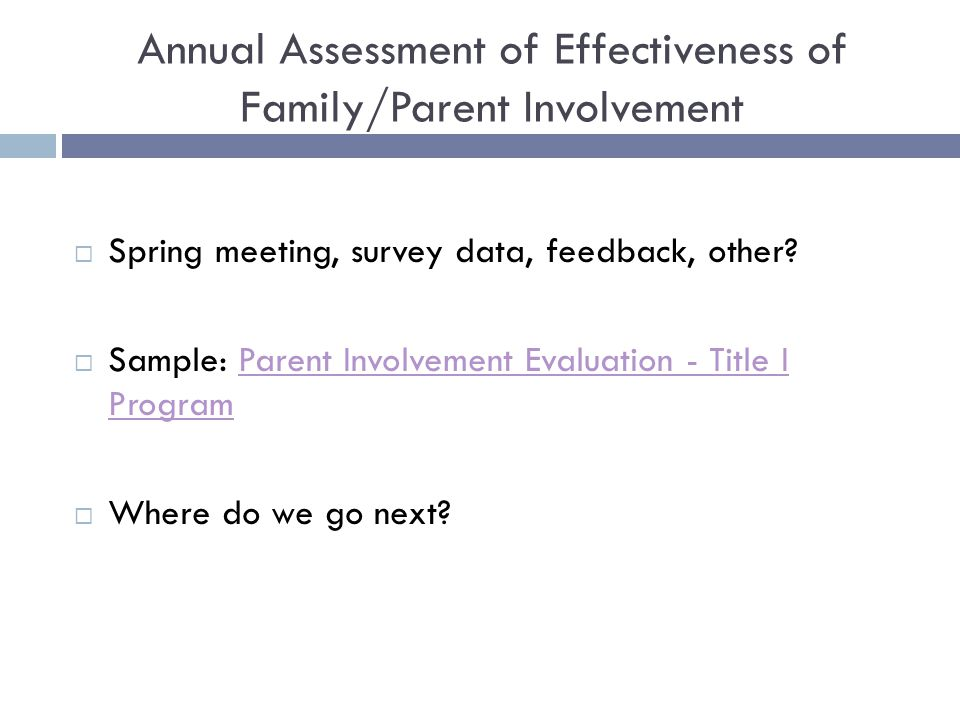 effectiveness of parental involvement Summary the haringey reading project was a two‐year educational  intervention, which sought, firstly, to increase the amount of parental help given to  6–8.