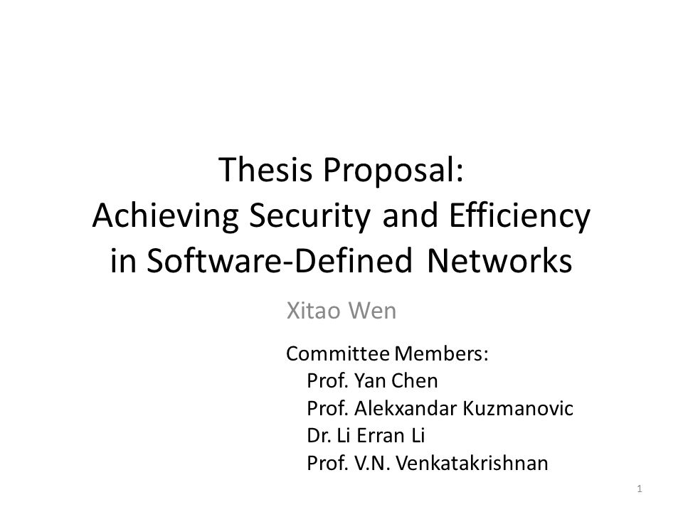 software defined networking master thesis Emerging software defined networking (sdn) technology has provided excellent flexibility to large-scale networks in terms of control, management, security, and maintenance on the other hand, recent years witnessed a tremendous growth of the critical infrastructure networks, namely the smart-grid,.