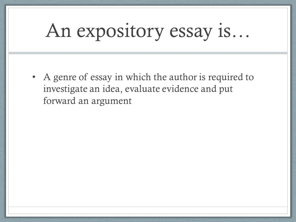 expository essay on environment Here we've compiled a list matching the top essays in our database against expository ] essays  racism essay expository essay  to one's environment such .