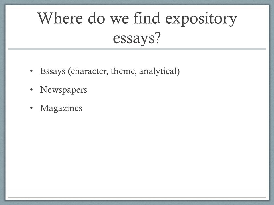 How To Write A Text Response Expository Essay  Ppt Download