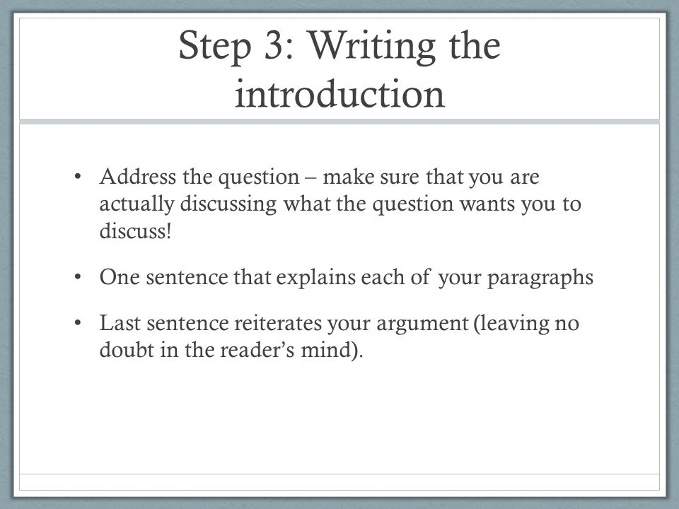 how to write a text response expository essay ppt video online  step 3 writing the introduction
