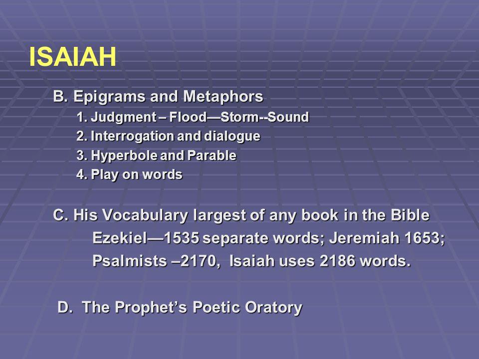 ISAIAH B. Epigrams and Metaphors