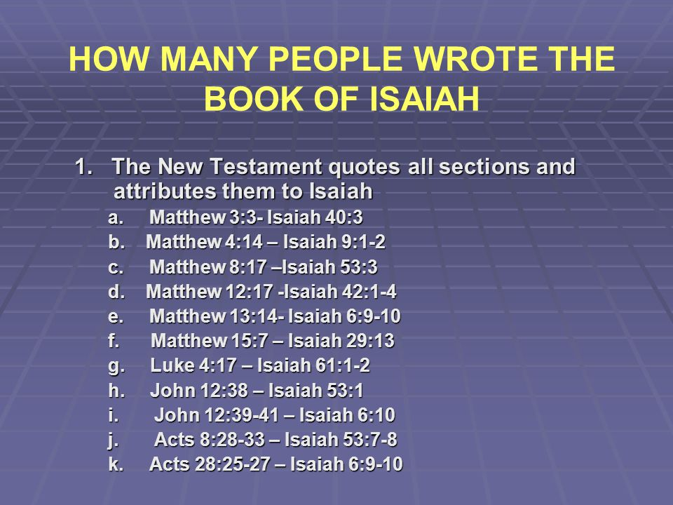 HOW MANY PEOPLE WROTE THE BOOK OF ISAIAH