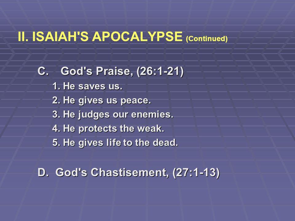 II. ISAIAH S APOCALYPSE (Continued)