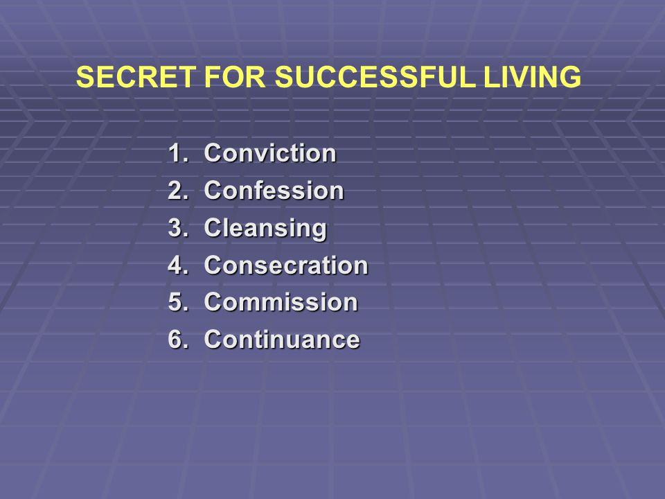 SECRET FOR SUCCESSFUL LIVING