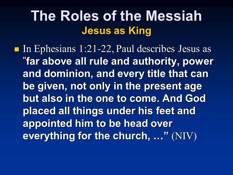 the role of jesus christ above all things What are the different names and titles of jesus christ what are the different names and titles of jesus christ he is pre-eminent above all others.