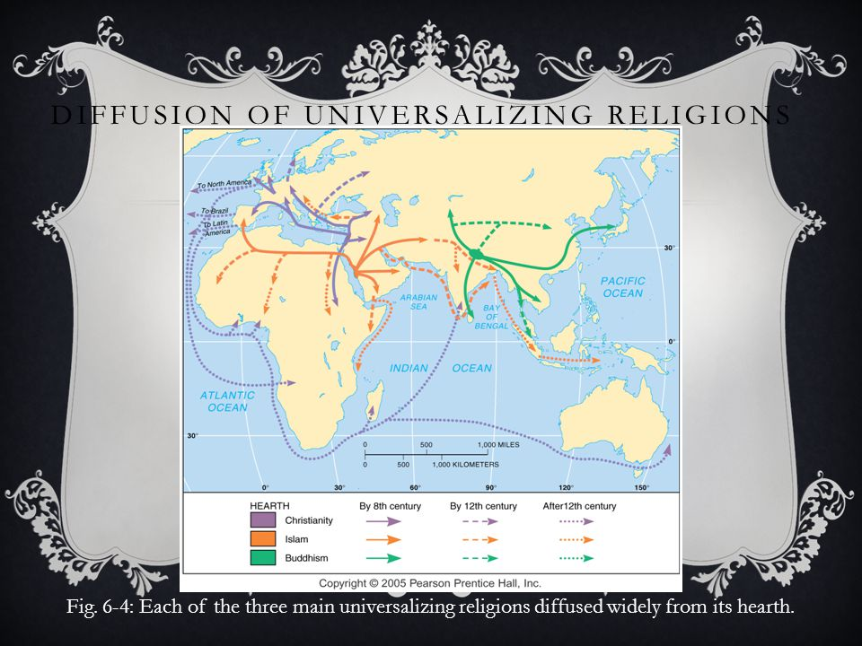 Chapter Religion Ppt Video Online Download - Religious diffusion maps us