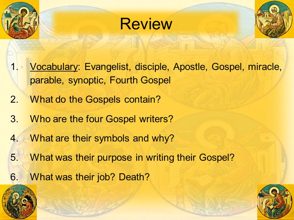 a review of the synoptic gospels of mark matthew and luke Parallel comparison of the synoptic gospels matthew, mark and luke and the gospel parallels also compare the fourth canonical book of john.