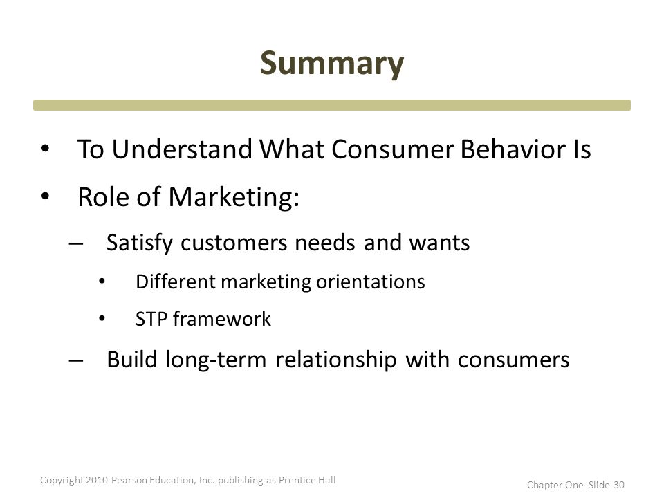 an overview of consumer behaviour Summary of classroom material consumer behavior consumer behavior involves the psychological processes that consumers go through in recognizing needs.