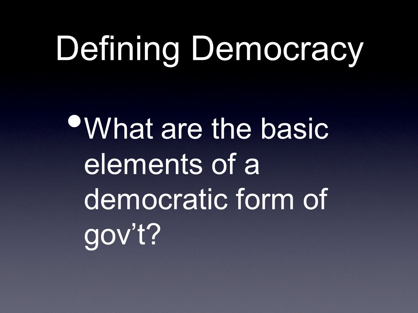 foundations of us democracy Some believe this to be a singular product of the puritan or early protestant  cultural foundations of american life our democratic politics at.