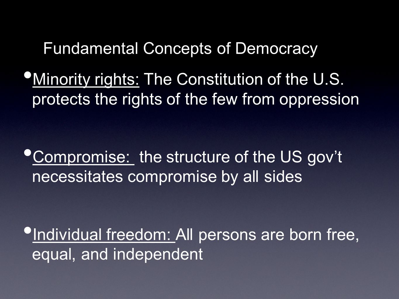 Foundations Of The Us Government Ii Defining Democracy A K
