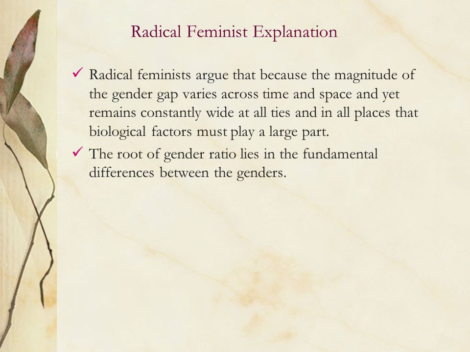 feminists argue that gender matters because _____ Feminists are making matters worse  i can't even try to imagine my own daughter going thru all this because she  you can't argue gender equality and yet you.