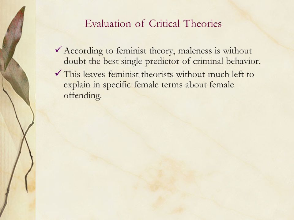 Critical evaluation of the classical theory