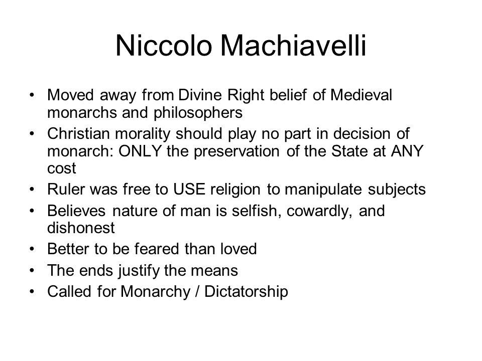 Machiavelli S Beliefs On Human Nature