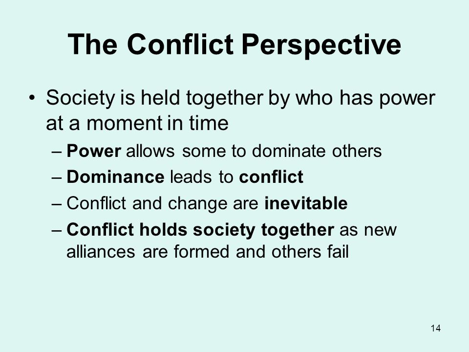 The Conflict Perspective