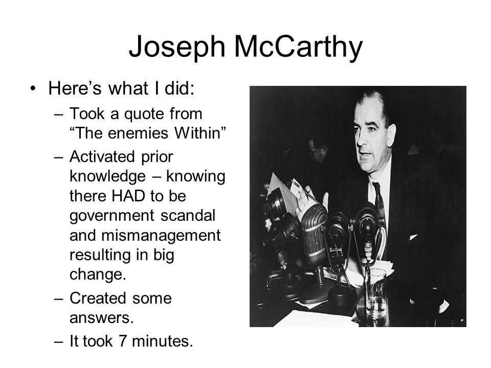 joseph mccarthy essay