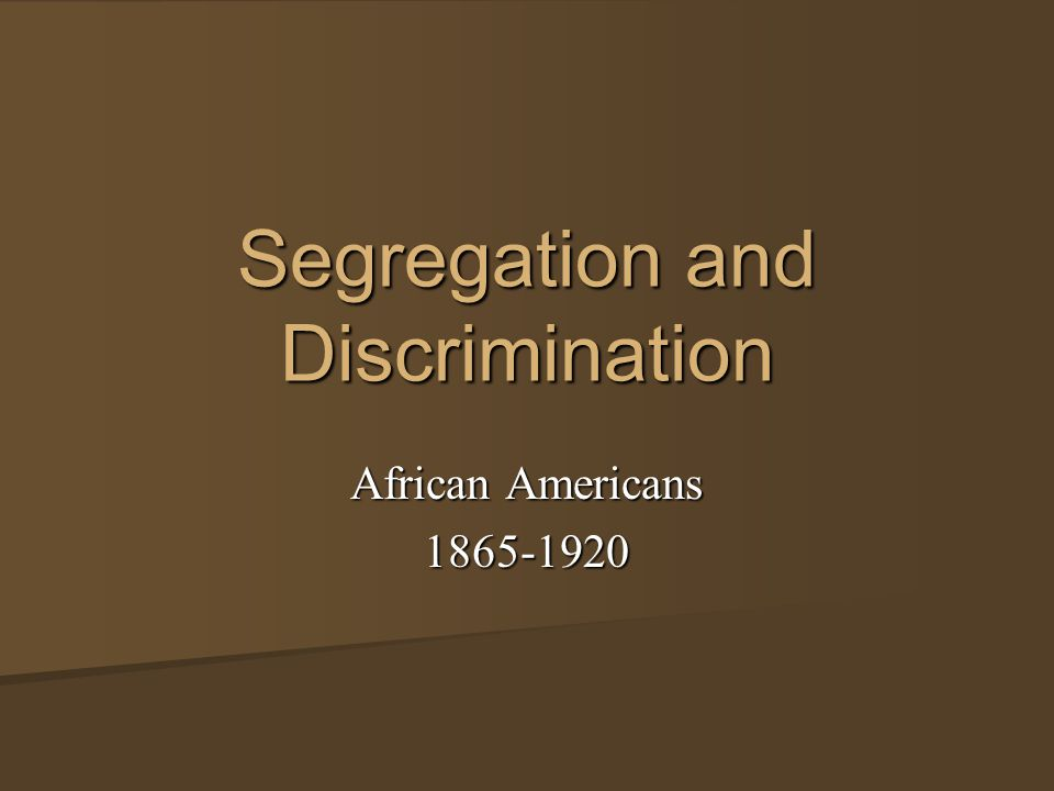 the different strategies to help the resistance to racial segregation and discrimination The harsh realities of racial segregation and discrimination are no a key strategy that i think can be used to help i have created three different.