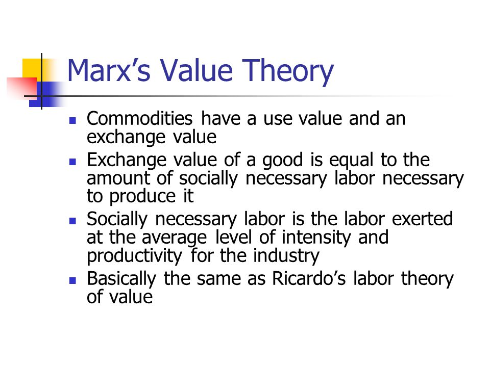 karl marx labour theory
