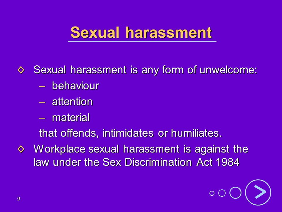 Sexual Harassment Is A Form Of