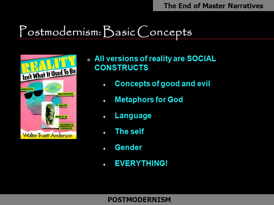 postmodernism approach is islamic jurisprudence Postmodernism is an easy target, especially if you treat it as just another form of relativism—the old what's true for you may not be true for me dodge.