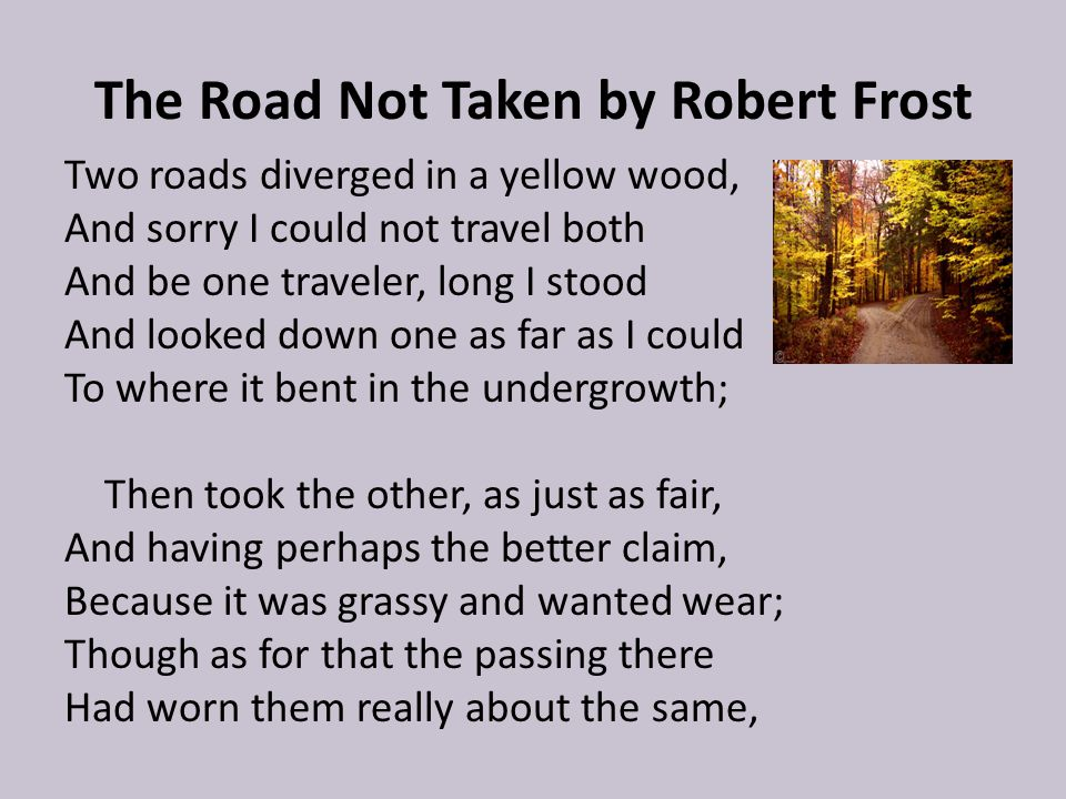 imagery and tone in the road not taken Elements in the road not taken in the poem the road not taken, author robert frost uses the simple image of a road to represent search essays symbolism, rhyme scheme, diction, imagery, and tone to help create one of his most well known pieces about the human experience.