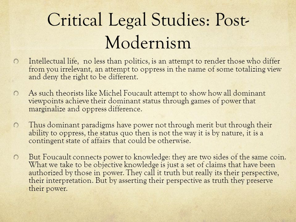 critical legal studies This encyclopedia entry reviews the contributions of the critical legal studies movement to the philosophy of law critical legal studies is most often associat.