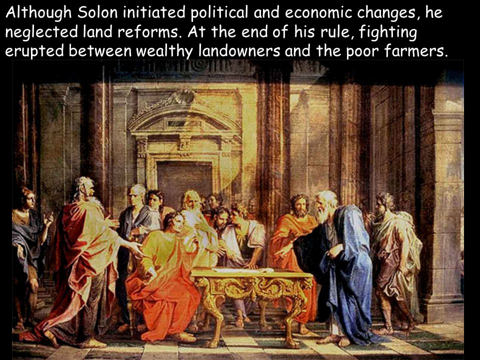 solon economic political reforms athens After his term as lawgiver, solon departed athens for  they did resolve the economic  cleisthenes introduced dramatic political reforms to prevent the.