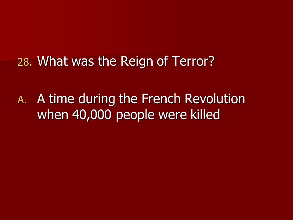 reign terror during french revolution Reign of terror: the french revolution, part iii  in which john green completes his introduction to the history of the french revolution, discussing the rise of the committee of public safety .