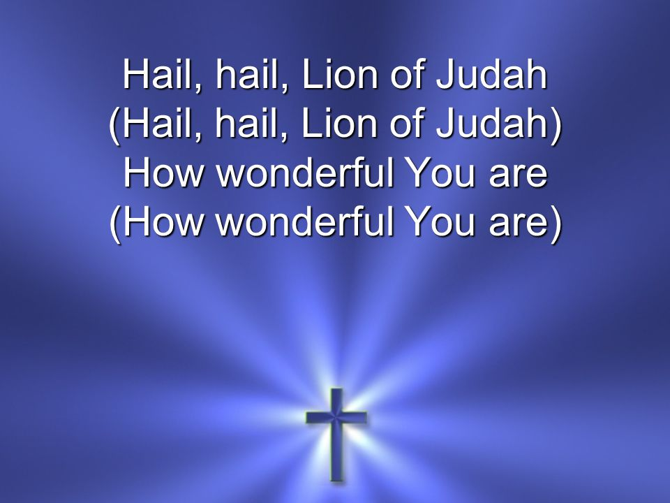 (Hail, hail, Lion of Judah) How wonderful You are