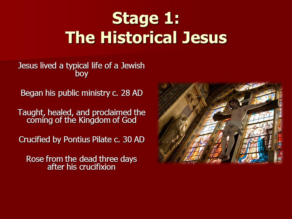 Stage 1: The Historical Jesus