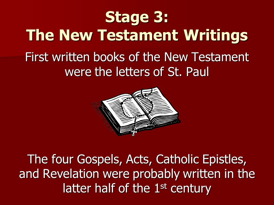 Stage 3: The New Testament Writings