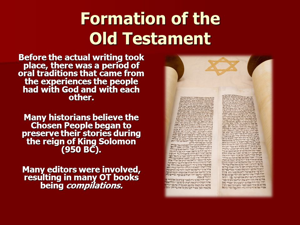 Formation of the Old Testament