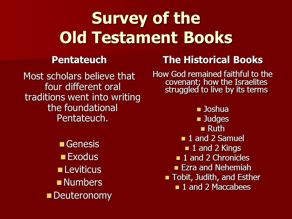 Survey of the Old Testament Books