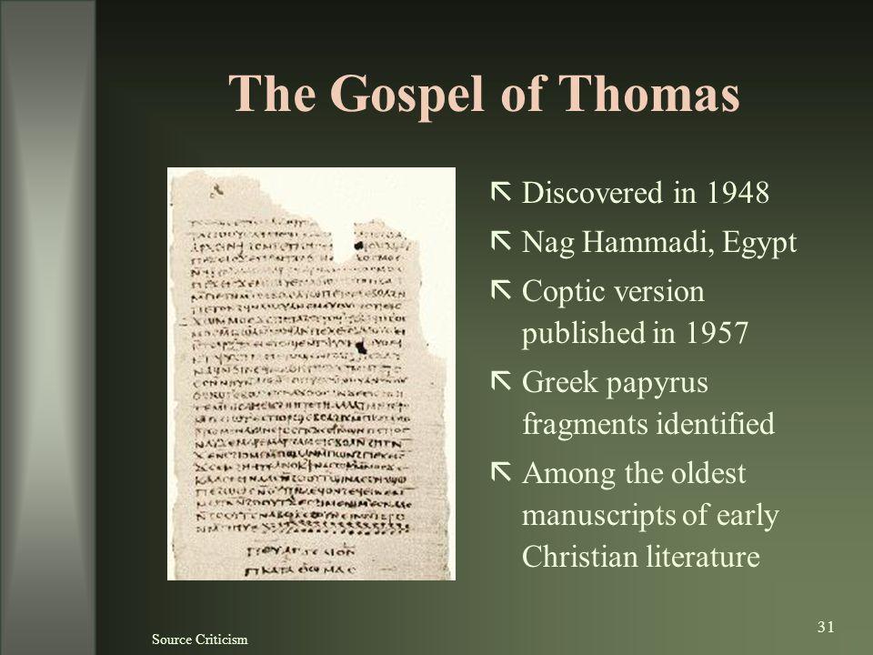the gospel of thomas pdf download
