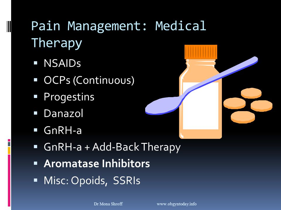 Pain Management: Medical Therapy
