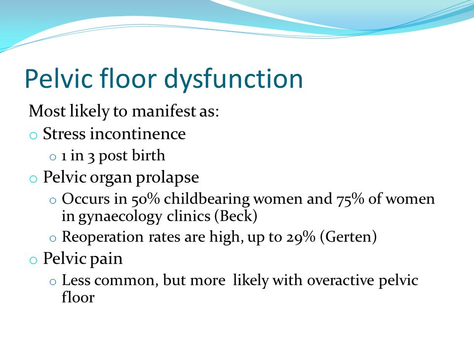 Preventing exercise induced pelvic floor damage