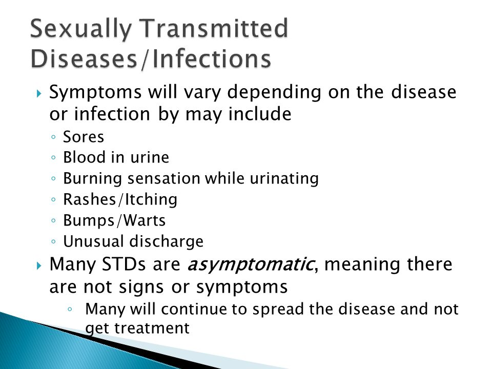 Sexual transmitted diseases symptoms