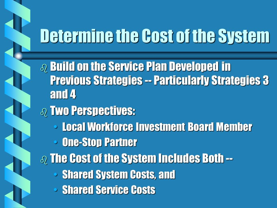 Determine the Cost of the System