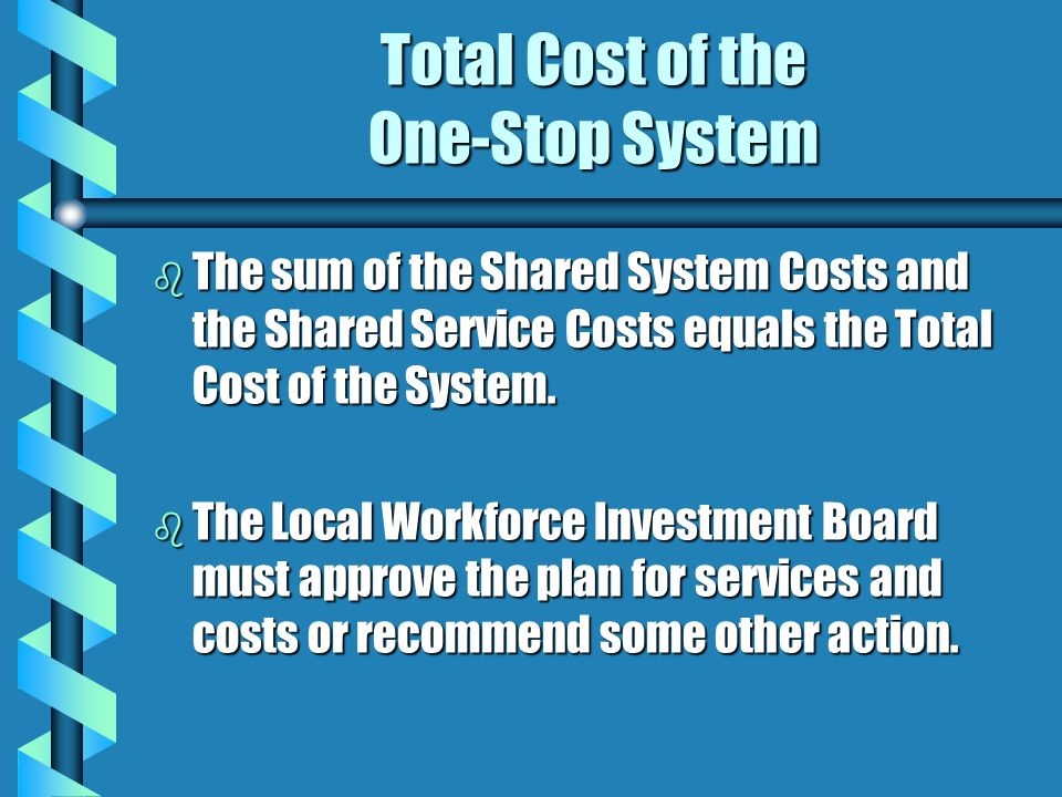 Total Cost of the One-Stop System