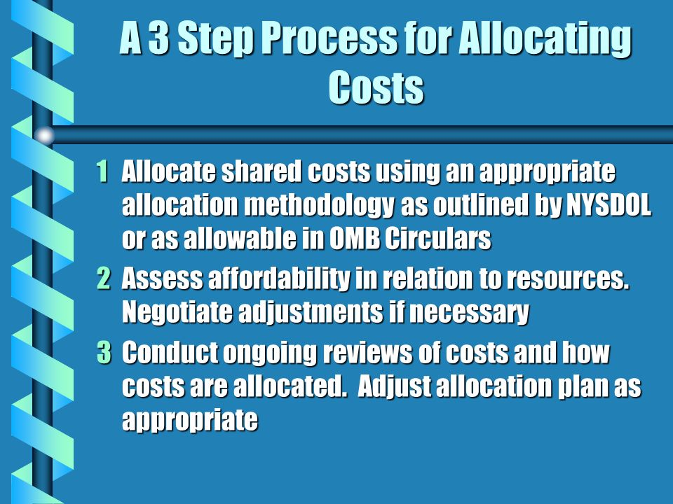 A 3 Step Process for Allocating Costs