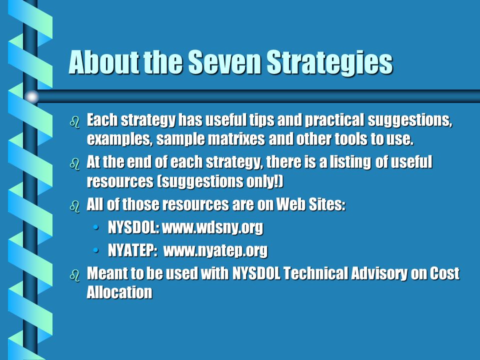 About the Seven Strategies