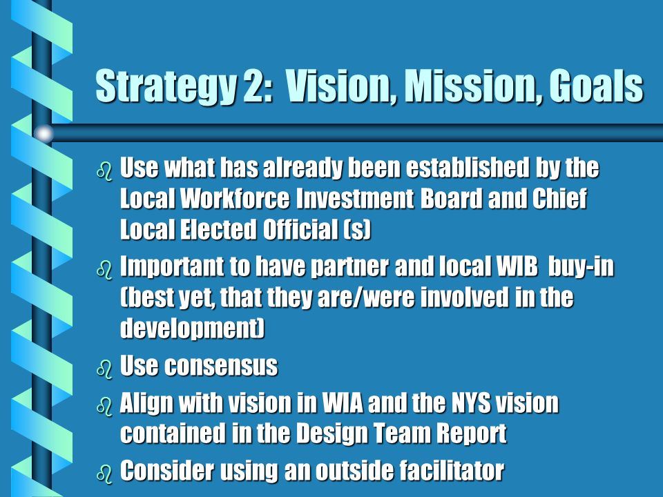 Strategy 2: Vision, Mission, Goals
