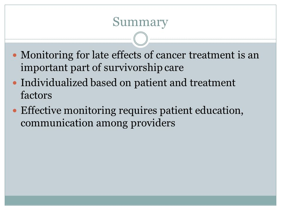Long-Term Effects of Cancer Treatment - ppt video online ...