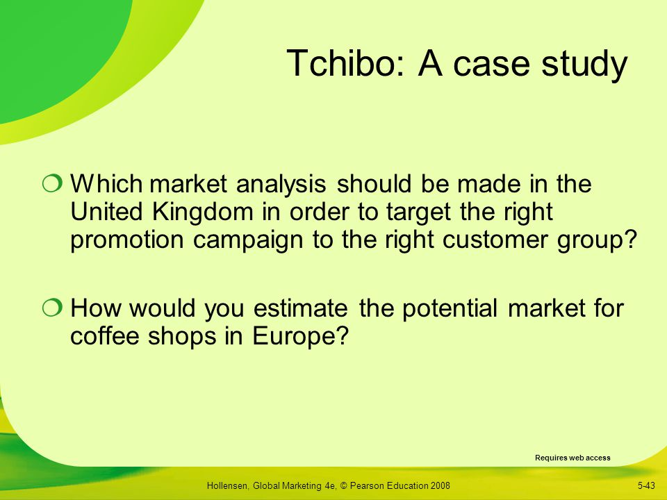 market research case study As part of its overall strategy to drive growth through systematic expansion into complementary product categories in the foodservice channel (eg, restaurants, convenience stores), a leading beverage manufacturer identified hot beverages (eg, coffee, tea) as an untapped market opportunity that it would like to explore and.