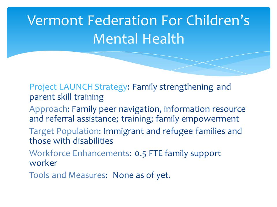 Vermont Federation For Children's Mental Health