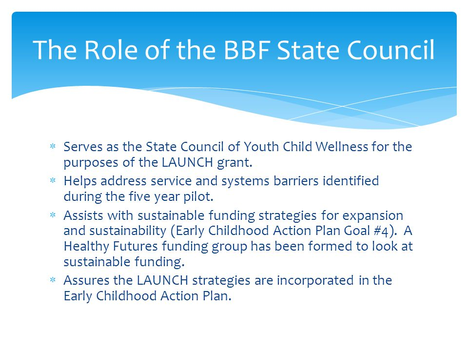 The Role of the BBF State Council