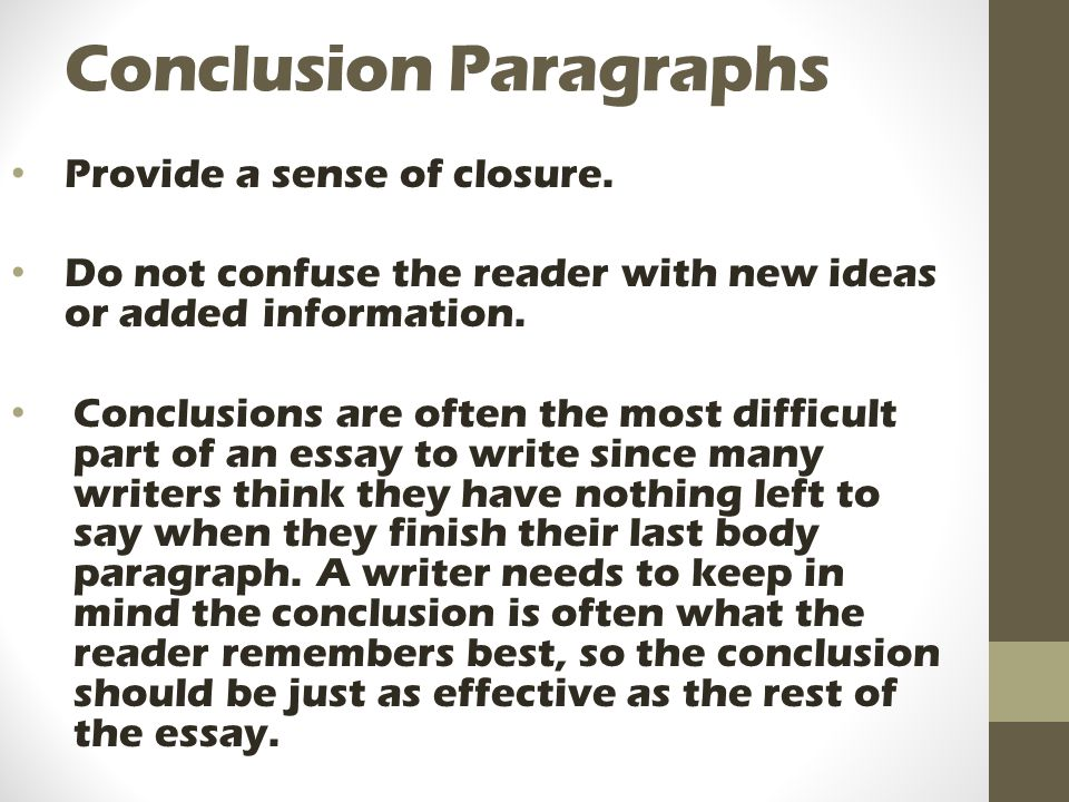 essay conclusion video