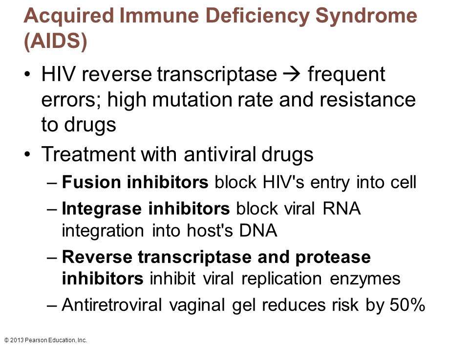 an overview of the acquired immune deficiency syndrome aids Immunodeficiency disorders are either congenital or acquired a congenital, or primary, disorder is one you were born with  an immune deficiency disease occurs when the immune  if you have.